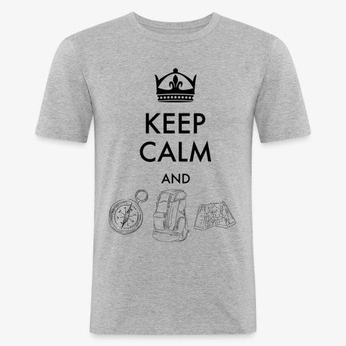 keepcalmandexplore - Men's Slim Fit T-Shirt