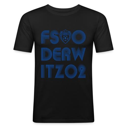 Shirt V1 Design blau2 gif - Männer Slim Fit T-Shirt