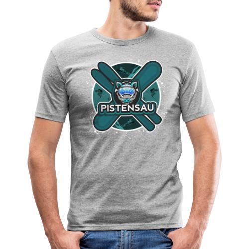 PistenSau Nervenkitzeljägergrün - Männer Slim Fit T-Shirt