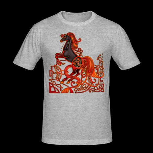 Celtic Horse Night Mare - Men's Slim Fit T-Shirt