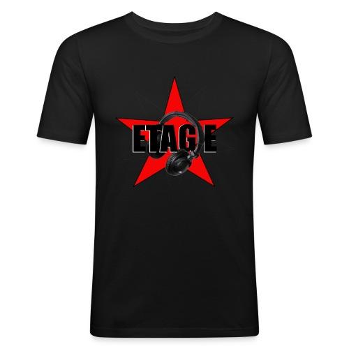 ETAGE Logo - Männer Slim Fit T-Shirt