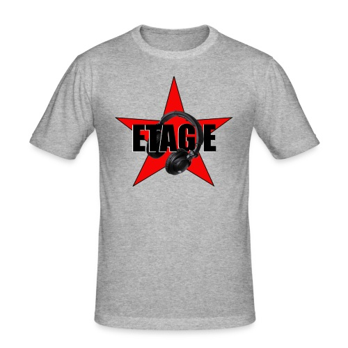 ETAGE Logo - Männer Slim Fit T-Shirt
