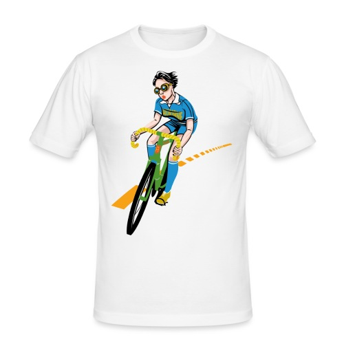 The Bicycle Girl - Männer Slim Fit T-Shirt