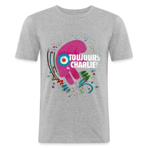 Toujours Charlie interprété par l'artiste C215 - T-shirt près du corps Homme