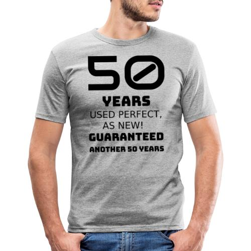 50 years birthday - Maglietta aderente da uomo