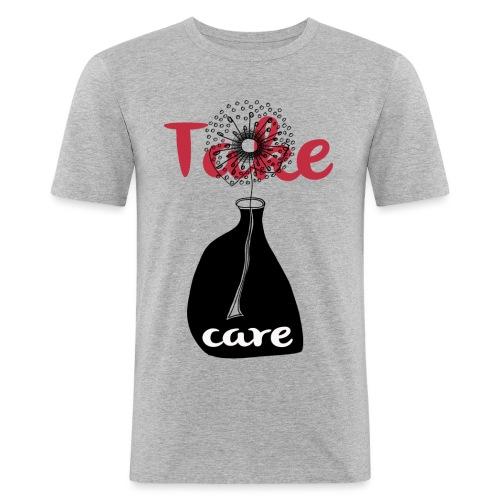 take_care - Maglietta aderente da uomo