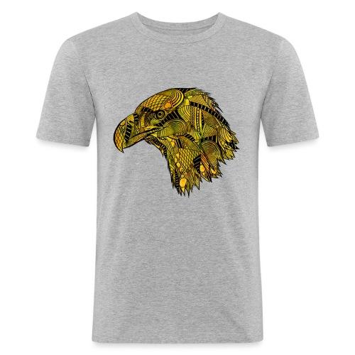 Gul ørn - Slim Fit T-skjorte for menn