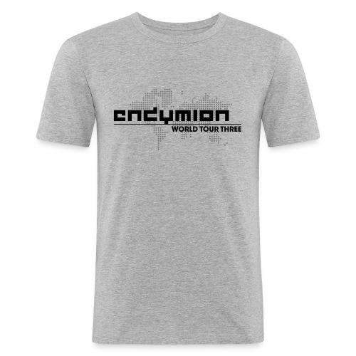 World Tour Three Vector Logo Black - Men's Slim Fit T-Shirt
