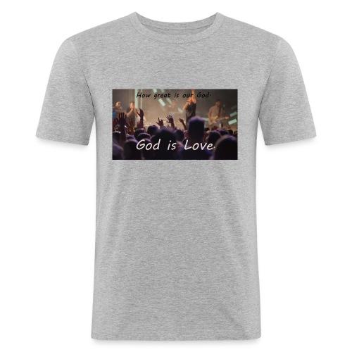 GOD is LOVE. - Männer Slim Fit T-Shirt