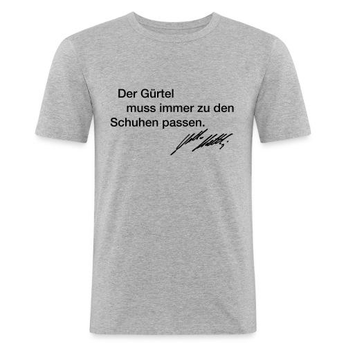gruertel unterschrift gross - Männer Slim Fit T-Shirt