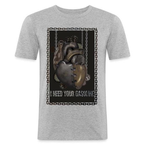 corazón sin gasolina - Camiseta ajustada hombre