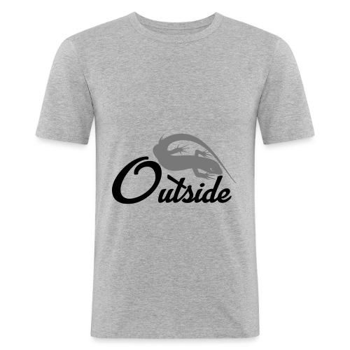Outside - Männer Slim Fit T-Shirt