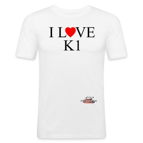 i love k1 nera - Men's Slim Fit T-Shirt