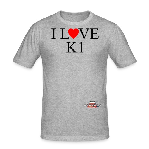 i love k1 nera - Men's Slim Fit T-Shirt