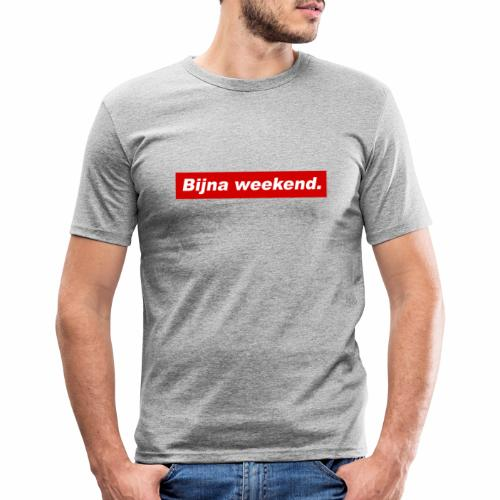 Bijna weekend. - Mannen slim fit T-shirt