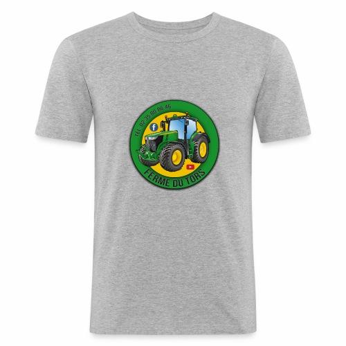 Logo de la Ferme - T-shirt près du corps Homme