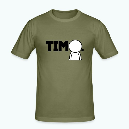 Design met ventje - Mannen slim fit T-shirt