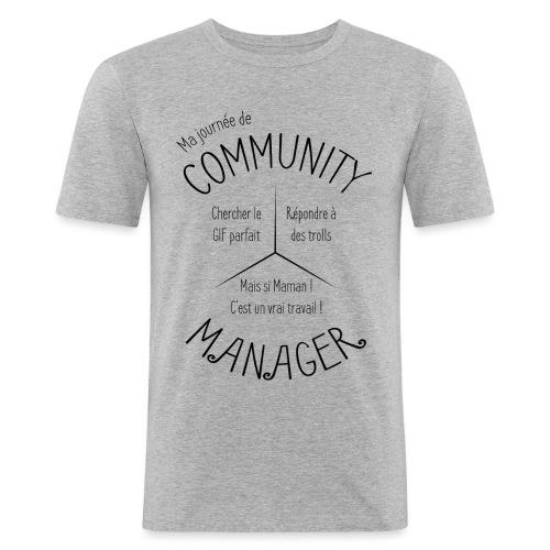 Le Design idéal pour le Community Manager - T-shirt près du corps Homme