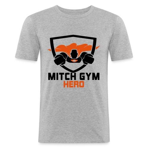 FLYING HERO - Mannen slim fit T-shirt