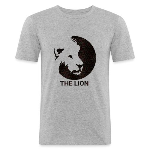 THE LION Basic/Logo - Männer Slim Fit T-Shirt