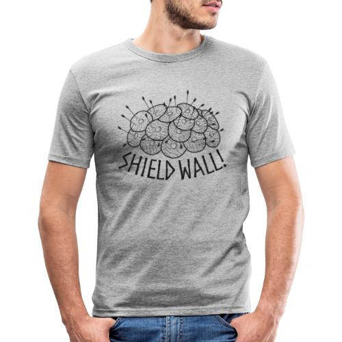 SHIELD WALL! - Men's Slim Fit T-Shirt