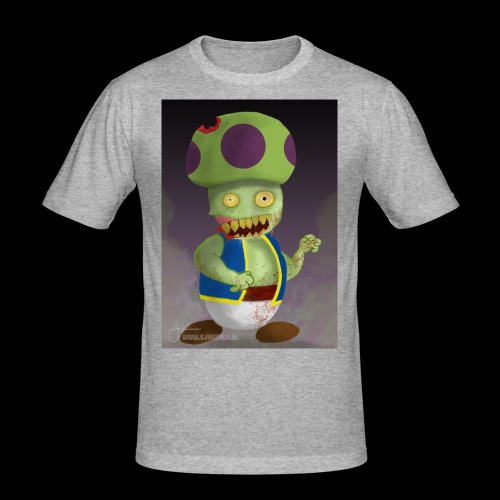 SuperMario: Zombie Toad - Mannen slim fit T-shirt