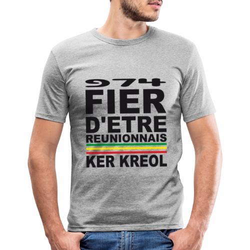 974 ker kreol fier et culture - T-shirt près du corps Homme