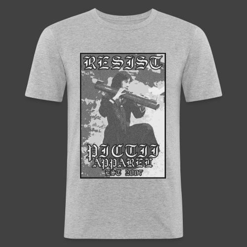 PICTRESIST6 - BW - Men's Slim Fit T-Shirt