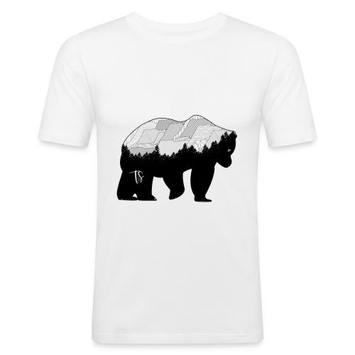 Geometric Mountain Bear - Maglietta aderente da uomo