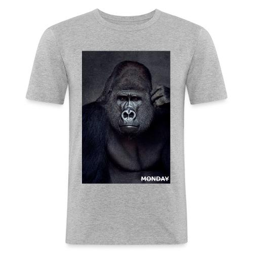 Affe für Monday 3 jpg - Männer Slim Fit T-Shirt