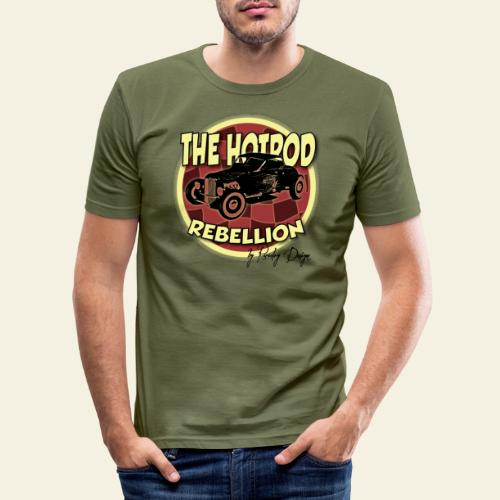 hotrod rebellion - Herre Slim Fit T-Shirt