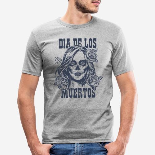 dia muertos day dead - Männer Slim Fit T-Shirt