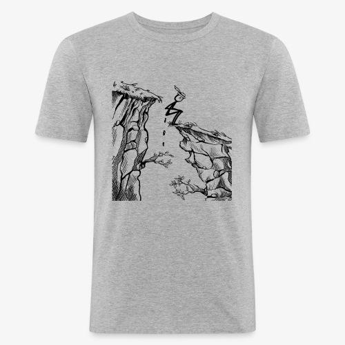 Schluchtenscheisser - Männer Slim Fit T-Shirt