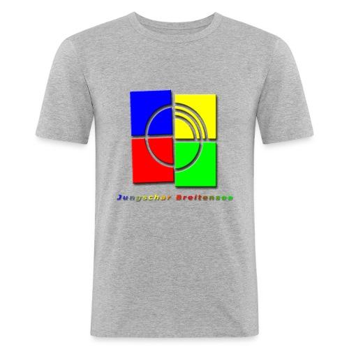 junschar logo bunt t - Männer Slim Fit T-Shirt