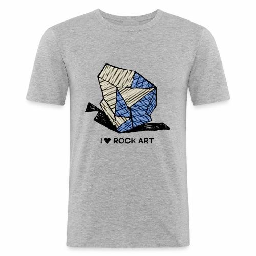 I LOVE ROCK ART No 1 colour - Mannen slim fit T-shirt