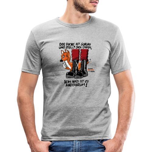 fuchsschlau - Männer Slim Fit T-Shirt