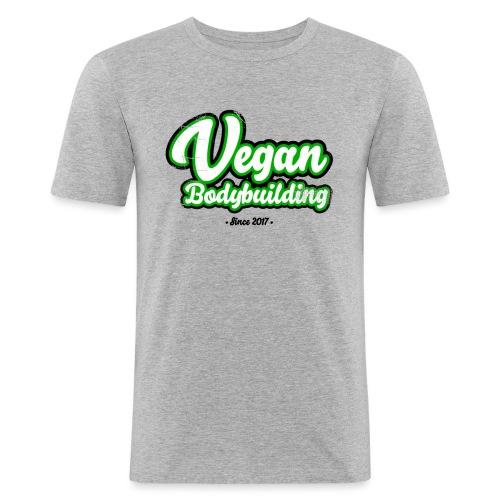 Vegan Bodybuilding -design - Miesten tyköistuva t-paita