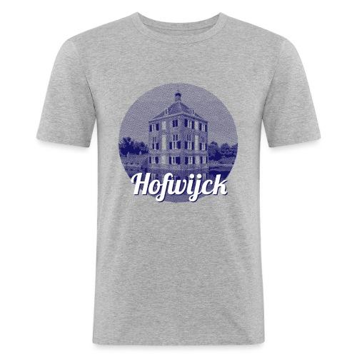 Hofwijck blauw - Mannen slim fit T-shirt