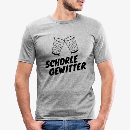 Schorlegewitter - Dubbeglas - Weinschorle - Pfalz - Männer Slim Fit T-Shirt