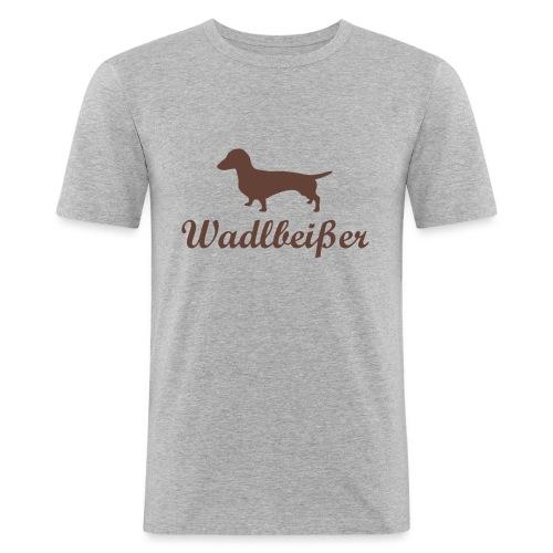 wadlbeisser_dackel - Männer Slim Fit T-Shirt