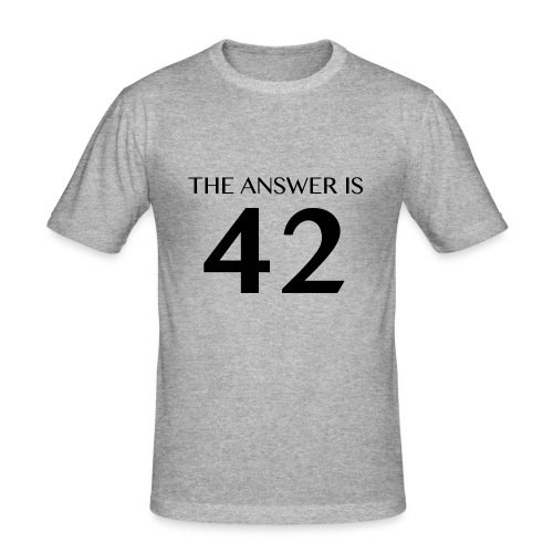 The Answer is 42 Black - Men's Slim Fit T-Shirt