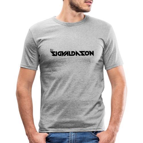 DJ logo sort - Herre Slim Fit T-Shirt