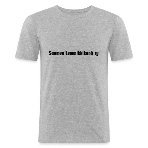 Suomen Lemmikkikanit ry avainnauha - Miesten tyköistuva t-paita