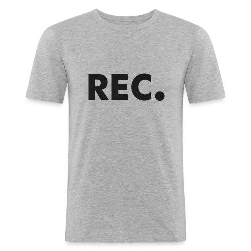 Rec zwart - Mannen slim fit T-shirt