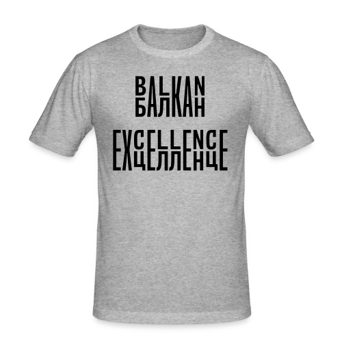 Balkan Excellence vert. - Men's Slim Fit T-Shirt