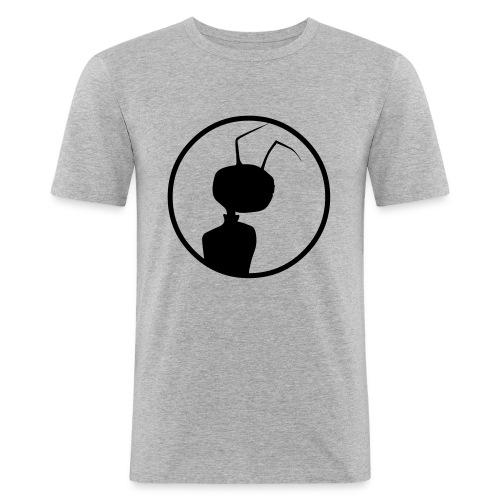logomeise klein - Männer Slim Fit T-Shirt