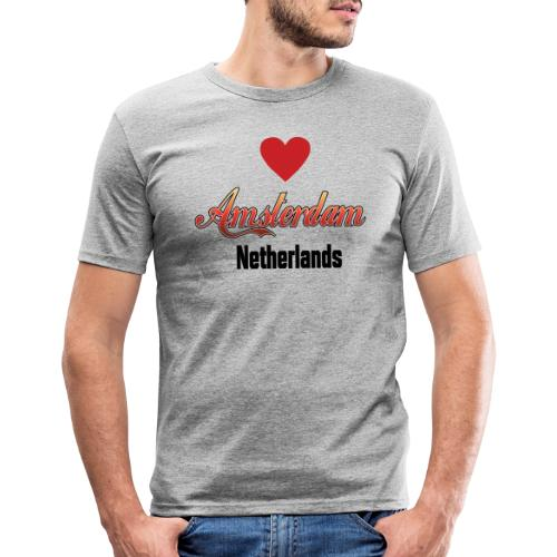 Amsterdam Netherlands - slim fit T-shirt
