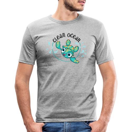 Clean Ocean - Men's Slim Fit T-Shirt