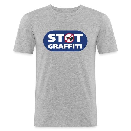Støt Graffiti - Herre Slim Fit T-Shirt