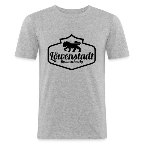 Löwenstadt Design 1 schwarz - Männer Slim Fit T-Shirt